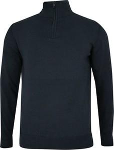 Granatowy sweter Just yuppi w stylu casual