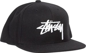 Czarna czapka Stussy