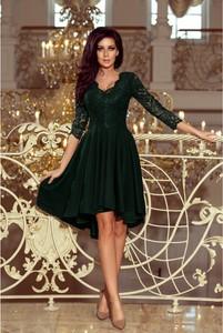 Sukienka NUMOCO z długim rękawem asymetryczna