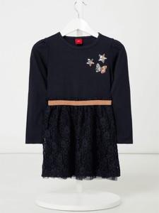 Granatowa sukienka dziewczęca S.Oliver Red Label z tiulu