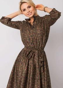 Brązowa sukienka Sheandher.pl w stylu casual z bawełny