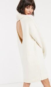 Sukienka Asos Design z długim rękawem z dekoltem na plecach