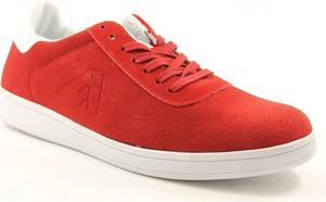 Czerwone buty sportowe American Club sznurowane ze skóry