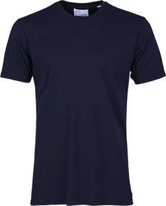 Niebieski t-shirt Colorful Standard z krótkim rękawem w stylu casual