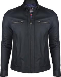 Czarna kurtka Giorgio Di Mare krótka w stylu casual ze skóry