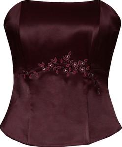 Fioletowa bluzka Fokus w stylu glamour bez rękawów
