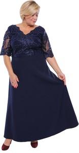 Sukienka modneduzerozmiary.pl z bawełny z długim rękawem