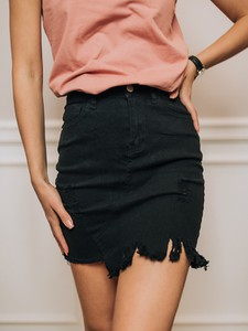 Czarna spódnica Promese z jeansu