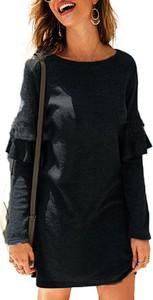 Sukienka Sandbella mini z dresówki z długim rękawem