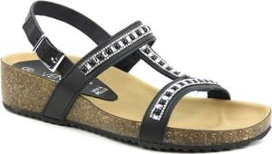 Czarne sandały Venezia na koturnie w stylu casual