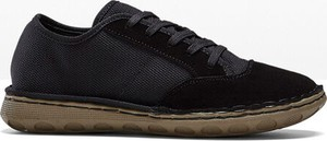 Czarne buty sportowe bonprix sznurowane z płaską podeszwą