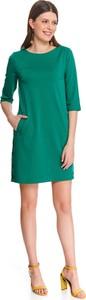 Zielona sukienka Top Secret z długim rękawem