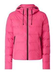 Różowa kurtka Superdry krótka w stylu casual