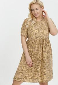 Sukienka born2be mini w stylu casual z krótkim rękawem