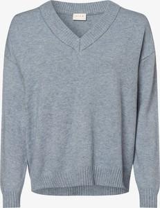 Niebieski sweter Vila w stylu casual