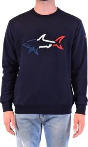 Sweter Paulandshark z bawełny z okrągłym dekoltem w młodzieżowym stylu