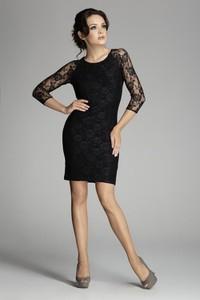 Czarna sukienka Figl mini prosta