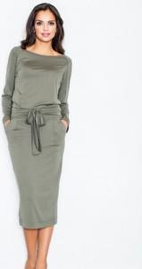 Zielona sukienka Figl