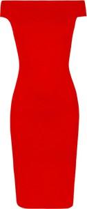 Czerwona sukienka Makover z dzianiny