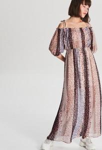 Sukienka Cropp maxi z szyfonu w stylu casual