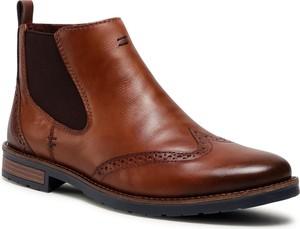 Brązowe buty zimowe Rieker