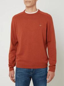 Pomarańczowy sweter Fynch Hatton z bawełny