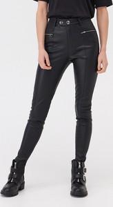 Czarne spodnie Sinsay ze skóry