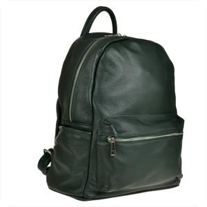 8583ce1560531 Zielony plecak męski Borse in Pelle ze skóry