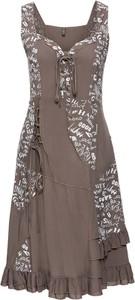 Sukienka bonprix rainbow w stylu casual w koronkowe wzory