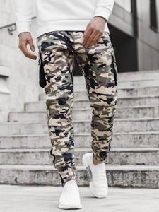 Spodnie ozonee.pl z bawełny w militarnym stylu