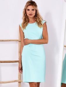 Niebieska sukienka Factory Price mini bez rękawów