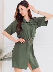 Sukienka Edoti koszulowa z długim rękawem