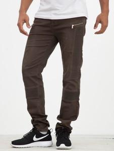 Brązowe jeansy Sixth June