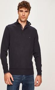 Czarny sweter Tommy Hilfiger z jedwabiu