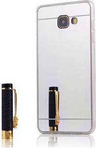 Etuistudio Etui na Galaxy A5 (2016) mirror - lustro silikonowe TPU - srebrne.