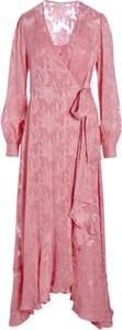 Różowa sukienka Dea Kudibal z długim rękawem