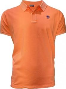 Koszulka polo Blauer Usa z krótkim rękawem w stylu casual
