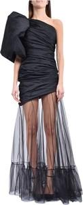 Czarna sukienka Giuseppe Di Morabito hiszpanka maxi bez rękawów