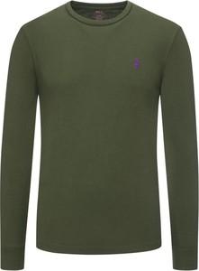 Zielona koszulka z długim rękawem POLO RALPH LAUREN z bawełny