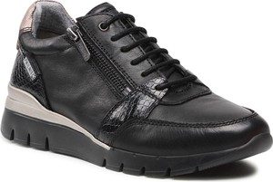 Czarne buty sportowe PIKOLINOS w sportowym stylu na platformie sznurowane