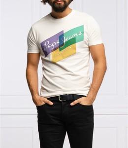 T-shirt Pepe Jeans z krótkim rękawem z nadrukiem