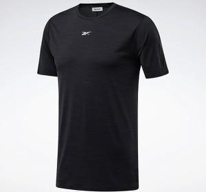 Czarny t-shirt Reebok Fitness w sportowym stylu