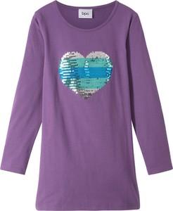 Fioletowa sukienka dziewczęca bonprix bpc bonprix collection