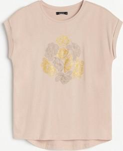 T-shirt Reserved z krótkim rękawem w młodzieżowym stylu