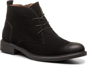 Czarne buty zimowe Lanqier w stylu casual z zamszu