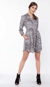 Sukienka Lanti koszulowa z długim rękawem
