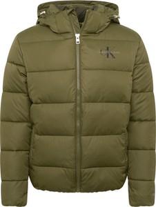 Zielona kurtka Calvin Klein w stylu casual z tkaniny
