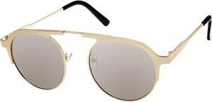 Złote okulary damskie Prius