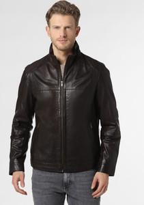 Brązowa kurtka Andrew James ze skóry w stylu casual