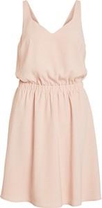 Różowa sukienka Vila bez rękawów